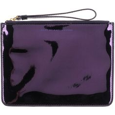 Marc By Marc Jacobs Pouch ($66) ❤ liked on Polyvore featuring bags, handbags, clutches, purple, zipper purse, zipper handbag, marc by marc jacobs purse, pouch purse and purple handbags
