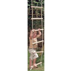 Buy our Rope Ladder by Bigjigs available now at Mulberry Bush. Suitable for children aged 6 - Order now with Free Delivery over Rope Ladder, Ladder Decor, Mulberry Bush, Toy Store, Outdoor Fun, Traditional, Children, Young Children, Boys