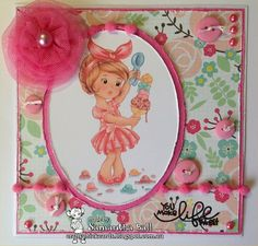Craftychick Cards: It's a Girlie challenge at The Paper Shelter!
