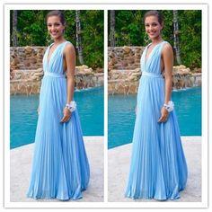 V-Neck Charming Prom Dresses/Long Evening Dresses/Inexpensive Prom Dresses #T168