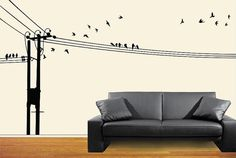 Birds on Phone lines  Vector file by CraftyVectors on Etsy, $6.95