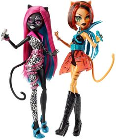 Catty Noir and Toralei Stripe Fierce Rockers Monster High Dolls 2-Pack, 2016 ($30 at Toysrus.com. I bought this set on sale for $24)