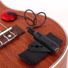 2016 Hot Piezo Contact Microphone Pickup 1/4' Jack for Guitar Violin Banjo Mandolin Ukulele 1pc FREE SHIPPING