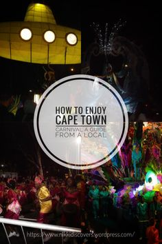 A guide on how to enjoy Cape Town Carnival. The carnival is hosted every year in March usually on the or and it's free. Carnival Dress, Travel Around Europe, Cape Town, Mardi Gras, South Africa, Behind The Scenes, Cool Photos, March, Mac
