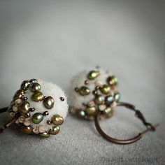 Earrings with Felt and Pearls - More | by <vaida>