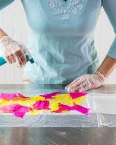 Tissue-Dyed Silk Scarf Steps 5-7