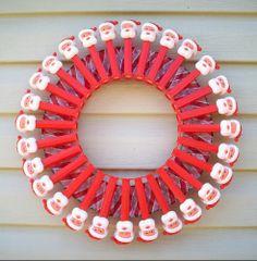 Harris Sisters GirlTalk: PEZ Christmas Wreath
