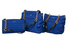 Meredith Collection, Imagine walking by the shores of the Mediterranean in St. Tropez—playground of the rich and famous. With the Meredith for MICHE bags on your arm, you'll fit right in. Sumptuous cobalt blue faux leather is made even more luxurious with front seam detailing and gold rivet accents.