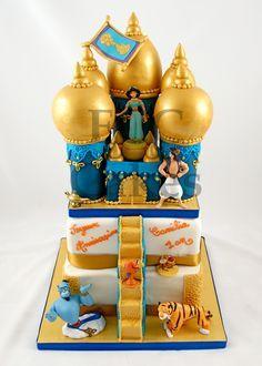 Cakes For Girls Aladin - Gateau D'anniversaire Pour Enfants Filles Aladin… Jasmine Cake, Princess Jasmine Party, Aladdin Birthday Party, Aladdin Cake, Disney Themed Cakes, 4th Birthday Cakes, Fantasy Cake, Fairy Cakes, Character Cakes