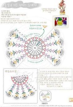 christmas ornamnent - Her Crochet Col Crochet, Crochet Bows, Crochet Girls, Crochet Flower Patterns, Crochet Chart, Crochet Stitch, Crochet Motif, Crochet Doilies, Crochet Flowers