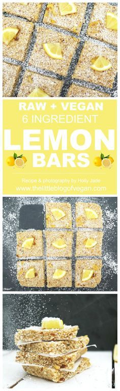 5-minute RAW, gluten-free vegan lemon oat bars, with a zesty kick! Packed full of goodness and delicious flavour!