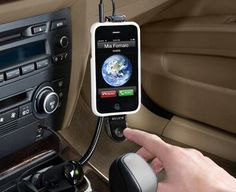 Swiveling cradle, for horizontal iPhone positioning and easy GPS viewing *Cradle is adjustable to fit most iPods and iPhones, even with a case on *Charges through car's 12-volt lighter outlet *Additional USB port allows you to charge a second device while you drive.