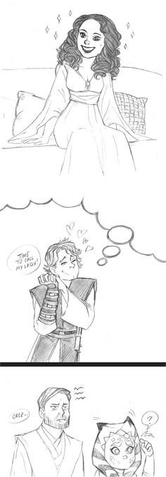 Star Wars Anakin and Padme short comic by KatyTorres
