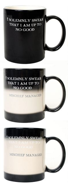 Any Harry Potter fans in the house? This mug changes color when you pour hot water, and reveals a secret message.