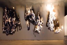 Claire Fontaine Paris based collective, PIGS burning, Musac Museum Leon