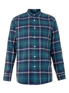 Teal Check Casual Shirt