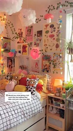 Room Design Bedroom, Room Ideas Bedroom, Girls Bedroom, Diy Bedroom Decor, Bedrooms, Bedroom Inspo, Pinterest Room Decor, Pastel Room, Grunge Room