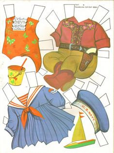 Tiny Thumbelina by Ideal, Paper Doll Clothes, 1963