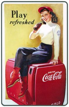 Coca Cola from glasss bottles and taken from an ice cold chest in front of gas stations!