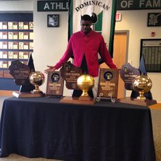 Goodbye Wisconsin, hello Mary Terps. Diamond Stone and his hardware. Dominican High School State Champions.