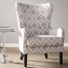 Shives Wingback Chair by Alcott Hill Chair Upholstery, Upholstered Dining Chairs, Dining Chair Set, Chair Cushions, Dining Room, Chair Fabric, Swivel Barrel Chair, Swivel Armchair, Wingback Chair
