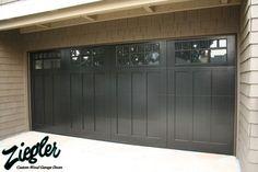 Traditional Wood Garage Doors - traditional - garage doors - orange county - Ziegler Doors Inc. for ADU garage...clear class on top