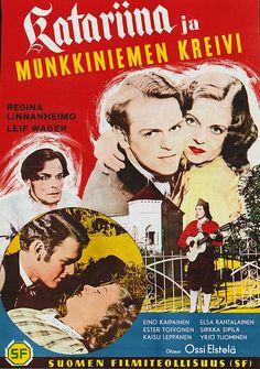 Katariina ja Munkkiniemen kreivi (1943) Old Movies, Film Posters, Finland, Movie Tv, Comic Books, Comics, Movie Stars, Cinema Posters, Comic Book
