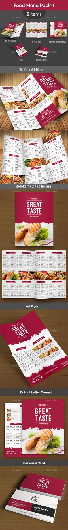 Food Menu Pack 9 — Photoshop PSD #print template #restaurant menu • Available here → https://graphicriver.net/item/food-menu-pack-9/13855845?ref=pxcr