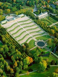 Sanssouci Castle - Potsdam, Germany. Frederick the Great of Prussia built the palace as his summer escape, where he could live without a care - 'sans souci'. While Sanssouci is in the more intimate Rococo style and is far smaller than its French Baroque counterpart, it too is notable for the numerous temples and follies in the park.