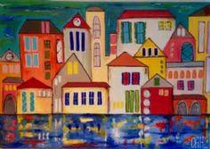 Kunstsamlingen | Artist: Smilla Daisy Dahl | Title: View To The Sea | Height: 70cm,  Width: 100cm | Find it at kunstsamlingen.com #kunstsamlingen #kunst #artcollection #art #painting #maleri #galleri #gallery #onlinegallery #onlinegalleri #kunstner #artist #danishartists #smilladaisydahl