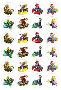 Edible Cake Toppers Super Mario x 24 Icing or Rice Paper Many Others   eBay