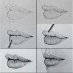 Delineate Your Lips - Labios con sombra - How to draw lips correctly? The first thing to keep in mind is the shape of your lips: if they are thin or thick and if you have the M (or heart) pronounced or barely suggested. Drawing Sketches, Pencil Drawings, Art Drawings, Drawing Tips, Drawing Ideas, Drawing Faces, Sketching, Realistic Eye Drawing, Drawing Pictures