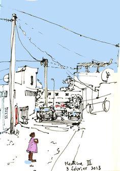 Urban Sketchers: Medina III, Nouakchott