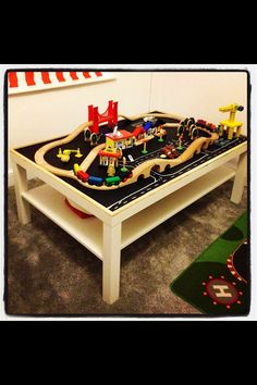 DIY Train Table, I Think Kev Will Like This As Much As The Kids... Maybe  More! | Future Babes | Pinterest | Train Table
