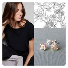 Sterling Silver Petite Tulip Studs#petitetulips #poppydotsdesign#jewelry #delicate #beautyful #onlineshopping