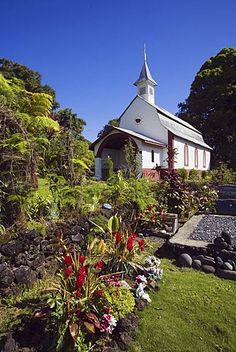Hawaii, Maui, Wailua, St. Gabriel´s Church, also known as the Coral Miracle Church and Our Lady of Fatima Shrine