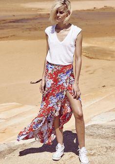 Auguste - Wanderer Wrap Skirt - Texan Blooms