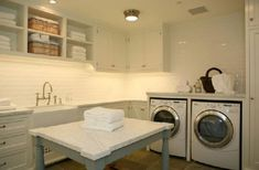 my laundry room IDEAL (with the addition of a few windows for natural light, oh, and someone to do the laundering. ha.)