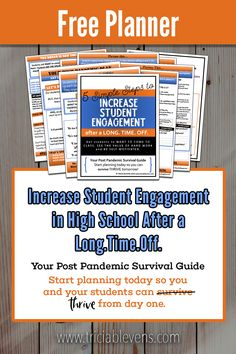 Your Post Pandemic Survival Guide - Increase Student Engagement in High School After a Long Time High School History, In High School, High School Students, Middle School, Classroom Management Strategies, School Librarian, Instructional Coaching, Student Motivation, Teacher Tools