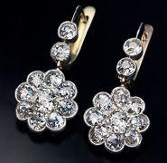 Vintage diamond earrings 2.50 cts