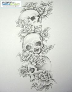 Cowboy Tattoo Designs: Cowboy Hat Tattoos, Cowboy Skull Tattoos, and More Cowboy Tattoos! tattoo sleeve designs for girls Skull Roses Tattoo, Skull Thigh Tattoos, Ink Tattoo, Skull Sleeve Tattoos, Tattoo Bein, Sugar Skull Tattoos, Sleeve Tattoos For Women, Tattoo Sleeve Designs, Body Art Tattoos