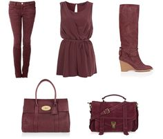 Mixed with black, Wine is the IT color for Fall 2012.