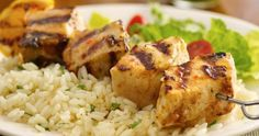 Sweet-and-Sour Grilled Swordfish Kabobs Recipe — Dishmaps