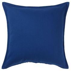 GURLI Kissenbezug, dunkelblau, 50x50 cm - IKEA Österreich Couch Pillows, Cushions, Throw Pillows, Cushion Pads, Cushion Covers, Ikea Usa, Recycling Facility, Air B And B, Natural Materials