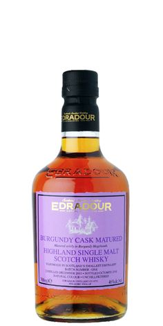 Edradour 2003 Burgundy Cask Matured is a single malt from the smallest distillery in Scotland that was fully matured in Burgundy wine hogsheads. This is truly one of a kind.