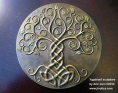 Yggdrasil+Tree+of+Life | Yggdrasil: The Tree of Life. Cold-c ast Relief Sculpture with antique ...