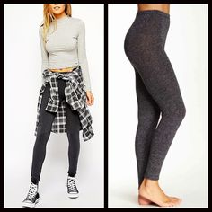 """Black Charcoal LEGGINGS FOOTLESS TIGHTS 🆕 NEW WITH TAGS 🆕 SIZE: L/XL Black Charcoal LEGGINGS FOOTLESS TIGHTS * Incredibly comfortable & high quality; Opaque marled fabric * Ideal for layering  * Will not fade or shrink; Machine wash.  * Tagged size L/XL will approx. fit 5'6""""-6'0""""and 160-200 LBS  * Super Soft; Stretch-To-Fit Style  ***the Black is the darker shade in photo #3, it looks charcoal grey from far, it is shown next to a Heather grey Fabric: 97% Polyester & 3% Spandex 91200 Color…"""