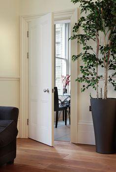 Knightsbridge Bespoke door - traditionally styled doors perfect for classic homes Primed Doors, Timber Door, External Doors, White Doors, Classic House, Joinery, Bespoke, Tall Cabinet Storage, Flooring