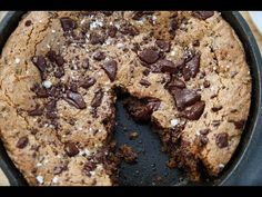 Paleo Salted Chocolate Chip Cookie Skillet - Running to the Kitchen
