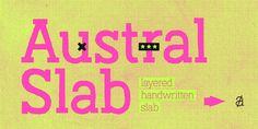 En lo más fffres.co: Austral Slab, una 'road-typography' inspirada en el paisaje de carretera argentino: Al igual que las road… #Tipografía
